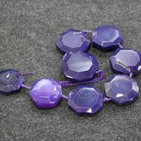 Wholesale 8pcs Strand Purple Druzy Agate Gemstone Beads Natural Slice Slab Drusy Druzy Agate Necklace Pendant Connector Jewelry Making