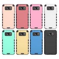 Cubierta plástica híbrida del caso de la armadura TPU para el iphone 6 6S más 5S borde de la galaxia S6 Nota 5 Caja de A8 Nexus 5X