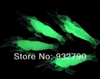 Cheap 50pcs Light Weight Noctilucent Soft Silicone Prawn Shrimp Fishing Fish Lure Baits Cream Glow in the dark order<$18no track