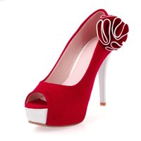 bid shoes - ENMAYER Bid size women pumps new high heels open toe Flowers wedding shoes women bridal shoes pumps