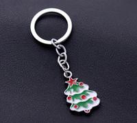 Alloy antique silver christmas tree - NEW Hot Cartoon Game movie Key Christmas tree Alloy keychain wedding favors keychain cc54
