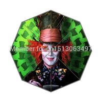 alice fabrics - New Personalized Umbrella Hot Design Fairy Alice in Wonderland Printing Auto Umbrella Good Gift