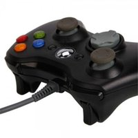 usb pc steering wheel - 10pcs Game Gamepad Controller Steering Wheel Controllers Black USB Wire PC XBOX360 Joypad Joystick XBOX360 Accessory For Android Video Games