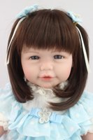 adora baby dolls - Big Handmade adora Doll For Kids quot cm Realistic Soft Silicone Reborn Baby Dolls brinquedos juguetes