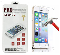 Wholesale For Galaxy S6 S5 Note Tempered Glass Screen Protector Film Iphone Plus mm Treated Glass Retail box