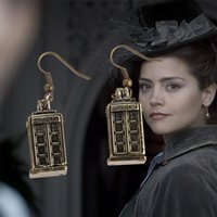 Wholesale European movie jewelry Doctor Who police box TARDIS earrings alloy DoctorWho Charm ear cuff statement jewelry for women