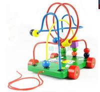 Wholesale Retail Children around the bead toys educational toys animals trailer Intelligence around the beads crane baby