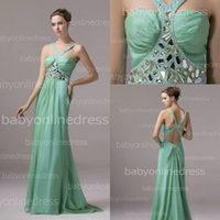 Wholesale Real Image Sexy Designer Occasion Dresses Vestidos De Fiesta V neck Beaded Backless A Line Party Prom Dress Formal Gowns BZP0322