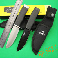 Wholesale high quality OEM BUCK straight hunting knife fixed blade survival knife tools hands HRC blade ABS handle best gift