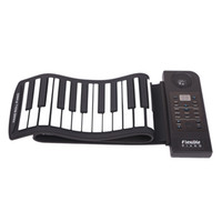 Wholesale Chrismas gift PU61S Flexible Digital Display Keys Tones Rhythms Children Toys Electronic Roll Up Piano Built in Speaker MIA_679