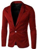 Wholesale 2016 New men s suits blazers spring fashion business Suit for men Pure color mens jacket coat