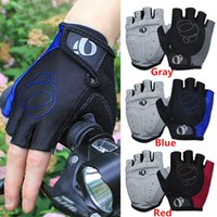 Wholesale Hot Sales Men Women Gloves Mittens PU Silicone Half Finger Bike Cycle Riding Training Motorcycle Racing CX17