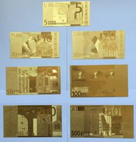banknote collection - Hot Sales New Euros Collections Banknotes SET Gold Foil Paper Money Commemorative Special Arts Gifts