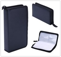 cd wallet - Home Portable Faux Leather Disc CD DVD Wallet Storage Organizer Holder Bag Case