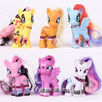 beautiful mantles - 8cm superior quality my little pony mini figures pony toys with beautiful mantle rainbow horses for kids girl gift Twilight Sparkle