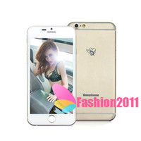 "Cheap Wholesale 1:1 Goophone i6 4.7"" Metal Cover Dual Core MTK6572 1G 16GB Android 4.2 Google Play 3G WCDMA Single SIM Smart Phone WIFI 002400"