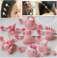 beautiful pumpkin - Christmas Style Infants and Children Pumpkin Car Pulling Spring Clip Hair Jewelry Small Straw Shall Bow Beautiful Roses Animal Style