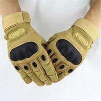 achat en gros de jaune gants de moto noir-Gros-Nouvelle marque LeatherNylon Fiber Motorcycle Armed complets Gants Finger Sport Gants Noir Jaune M L XL Hommes Hommes Accessoires