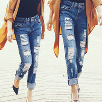 ripped baggy jeans - Jean Yu Beauty