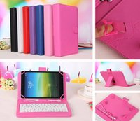 """Cheap Universal Adjustable Flip PU Leather Stand Case Cover With Standard USB 2.0 Micro Plug For 7 inch Tablet PC MID Q88 A20 A23 7.0 7"""""""