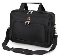 Wholesale retail new nylon black laptop bag for men notebook bag for inch computer accessories computer bags