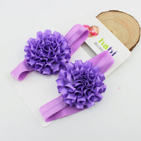 baby photo socks - New Baby Girl Ribbon Flower Socks Barefoot Sandals Toddlers Summer Footwear Newborn Infants Photo Props baby accessory A
