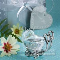 Wholesale Crystal Baby Carriage in gift box baby shower mix order
