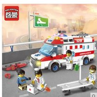ambulance toys - New hot Ambulance Nurse Doctor Toys Minifigure Building Block sets Toys enlightenment Compatible With Legoe