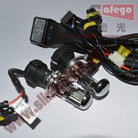 Wholesale 5 pairs High Quality bixenon w V HID BIXENON REPLACEMENT Bulb H4 K Hi Lo Bixenon hid bulbs with cable