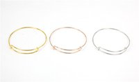 Wholesale 65mm Diameter Silver plated Simple Wiring Bracelet for Beading or Charms Alex and Ani style Expandable Bangles