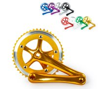 Wholesale High quality aluminum alloy Fixed Gear Fixie Cycling Track Crankset Cranks CNC with Screw and Dust Cover