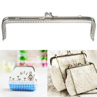 Tag purse clasp - New Cute Metal Silver Sewing Handbag Handle Clutch Coins Purse Frame Kiss Clasp Arch For Bags cm Accessories