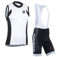 bicycle outfits - Round Square white men cycling sleeveless jersey vest bicycle Cycling jerseys Straps short outfit