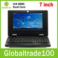 Wholesale New inch Netbook Mini PC Laptop VIA8880 Dual Core Android Wifi G RAM G HDD HDMI Free DHL