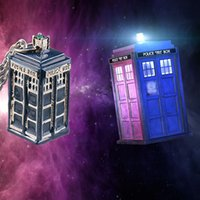 Wholesale Doctor Who Police Box Pendant Necklace Doctor Who Classic Retro European Movie Jewelry Mysterious Dr TRADIS Necklaces Police Box Chains