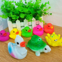 baby magic items - Creative Color Duck Tortoise Squid Rubber Toys Baby Bathing Swimming Gifts Toys Magic Sounds Animal Kids Beach Toys Sand Play Water Fun Item