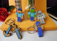 Wholesale 2015 New Arrive Cute kids MC TNT minecraft key chain sheep party Game play minecraft keychain