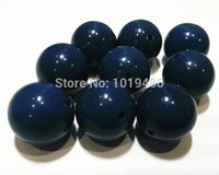 navy acrylic beads 20mm - navy blue MM Chunky Gumball Bubblegum Acrylic Solid Beads Colorful Chunky Beads for Necklace Jewelry B30