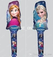 Wholesale frozen balloons for frozen party supplies balloons clapper inflatable balloons stick birthday party decorations kids balloons toys in stock