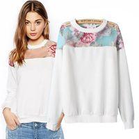 Cheap 2015 Women perspective sweatshirts floral printed sweatshirt hoody sweats sweatshirts camisa dudalina feminina