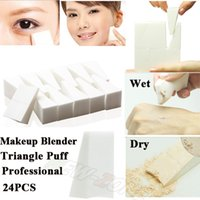 allergy bag - Professional VE Allergy free Makeup Blender Triangle makeup puff cosmetic sponge Wet amp Dry Use Powder Foundation Puff bag