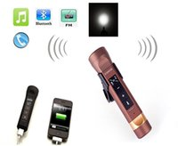 mini speaker rechargeable - Portable multifunction in LED Flashlight built in rechargeable battery Bluetooth speakers Power bank flashlight for Mobile phone