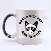 best friend mugs - best gift to friend lover Special Custom Have a Nice Day Cat ceramic morphing mugs color changing Oz Cups magic mug