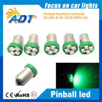 Wholesale otorcycle Accessories Parts Lighting Ba9s brand Products SMD3528 V AC LED Pinball Bulb For Game M