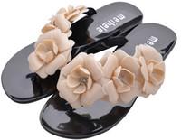 venda por atacado sapatos melissa-2015 Verão New Jelly melissa dos doces Cor Camellia Flip Flop praia mulheres sandálias e chinelos femininos sapatos de geléia Zapatos Mujer