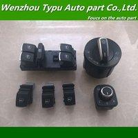 Wholesale Chrome headlight window Switch VW Passat B6 Jetta Golf MK5 MK6 CC ND941431B ND959857 ND959855 ND959565A set