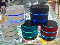 beatbox music - LED Light S09 Wireless Mini Speaker Speakers Bluetooth HiFi beatbox TF Card with MIC For iphone htc samsung S4 DHL ZKT
