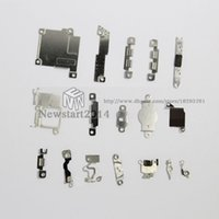 Wholesale 17 set High Quality Inner Accessories Inside Small Metal Parts Holder Bracket Shield Plate Kit Replacement for iPhone c