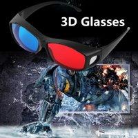 anaglyph video - Universal Type D Glasses TV Movie Dimensional Anaglyph Video Frame D Vision Glasses DVD Game Glass Red And Blue Color With Glasses