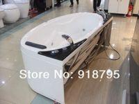 whirlpool massage bathtub - Fiber glass Acrylic whirlpool bathtub with massage and without massage function optional indoor spa RS6114